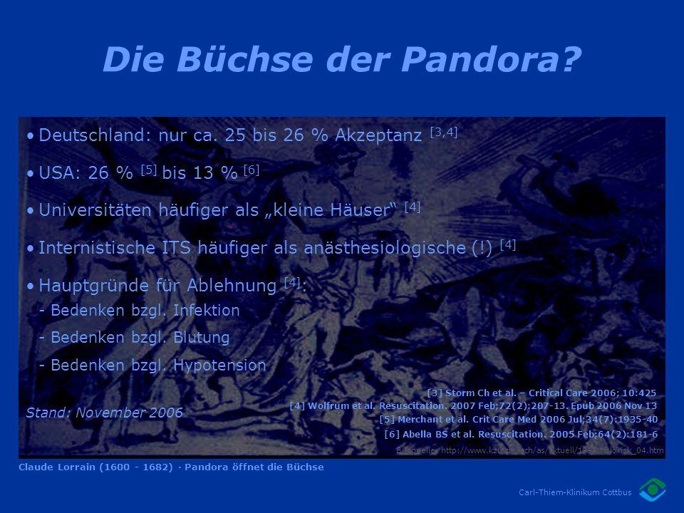Die Büchse der Pandora Deutschland: nur ca. 25 bis 26 % Akzeptanz [3,4] USA: 26 % [5] bis 13 % [6]